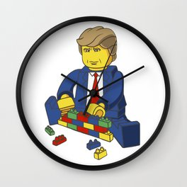 Trump Building Wall Wall Clock