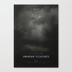 Unknown Pleasures Canvas Print