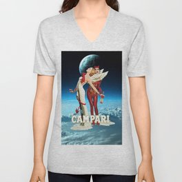Classic Campari Alcoholic Angel & Devil - Earth, Sun, and Stars Aperitif Advertising Vintage Poster Unisex V-Neck