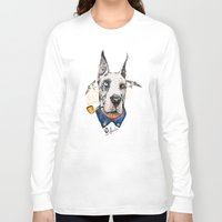 great dane Long Sleeve T-shirts featuring Mr. Great Dane by dogooder