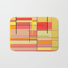 color and lines Bath Mat
