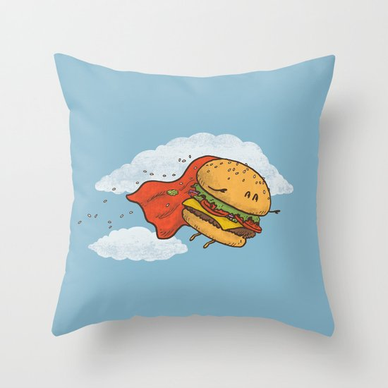 Superburger! Throw Pillow