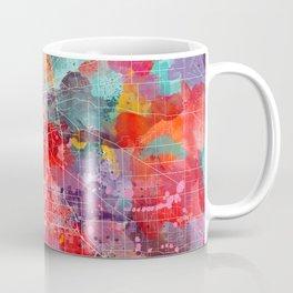 Stockton map California painting 2 Coffee Mug