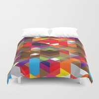 edm Duvet Covers featuring Life like a Geometry by Sitchko Igor