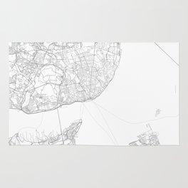 Lisbon, Portugal Minimalist Map Rug