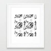pentagram Framed Art Prints featuring Pentagram by APaerels
