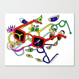 Spec Tangle Canvas Print