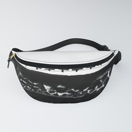 Black and White Watercolor Fanny Pack