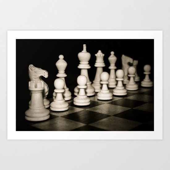 Chess Set Art Print