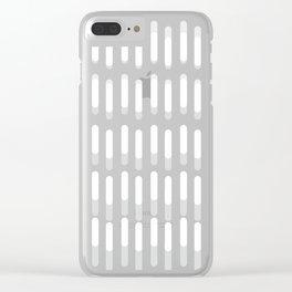 grey geometric line background #society6 #decor #buyart #artprint Clear iPhone Case