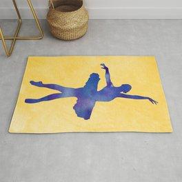 AP116 Watercolor dancer Rug
