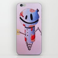 robot iPhone & iPod Skins featuring Robot by Ciotti