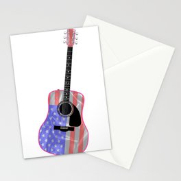 Stars and Stripes Guitar Stationery Cards