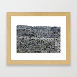 Dry stone wall Framed Art Print