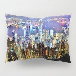 Hong Kong City Skyline Pillow Sham