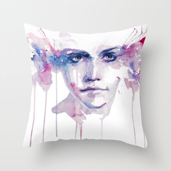 ragazza falena Throw Pillow