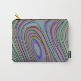 Colorful Abstract Retro Circles Swirls Pattern Carry-All Pouch