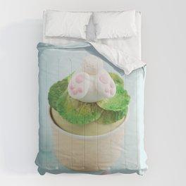 Easter bunny cupcake Comforters