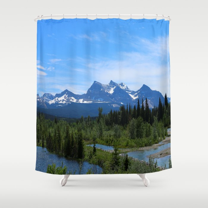 Belly River Shower Curtain By Christianeschulze