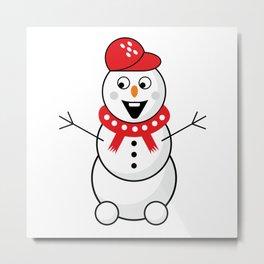 Christmas snowman #society6 #decor #buyart #artprint Metal Print