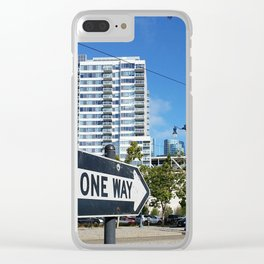 One Way Clear iPhone Case