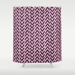 chevron pink rose Shower Curtain