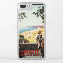 Varazze Italy 1920s Clear iPhone Case