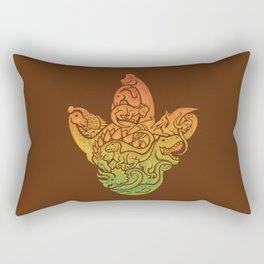 Prehistoric Print (brown) Rectangular Pillow