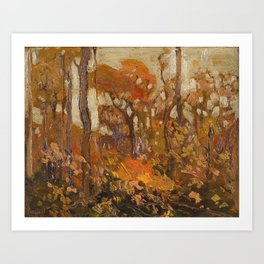 Tom Thomson - Autmn, Algonquin Park  - Canada, Canadian Oil Painting - Group of Seven Art Print