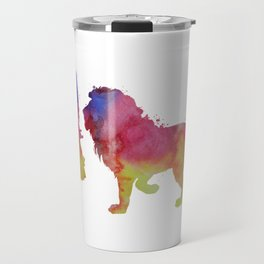 Lion and girl Travel Mug