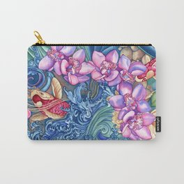 Orchid Splash Carry-All Pouch