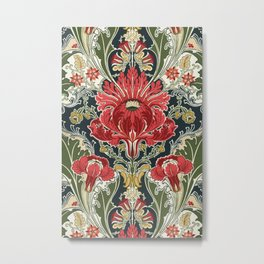 The Dovedale floral vintage wallpaper Metal Print