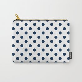 Small Polka Dots - Oxford Blue on White Carry-All Pouch