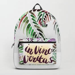 Fern.In vino veritas. In wine truth. Latin. Backpack
