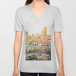New York City Graffiti Unisex V-Neck