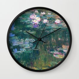 Claude Monet - Water Lilies Wall Clock