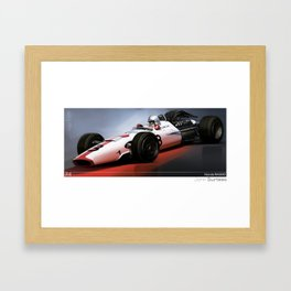 John Surtees - Honda RA300 Framed Art Print