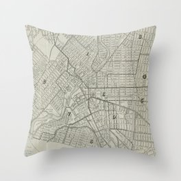 Vintage Map of Paterson NJ (1920) Throw Pillow