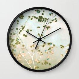 mosaica glitterati in blue + gold Wall Clock