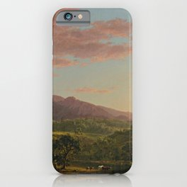 A New England Lake by Frederic Irwin Church iPhone Case