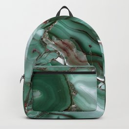Luxury Malachite Marble Agate Backpack