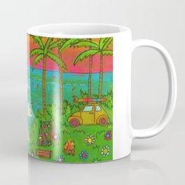 VW Beatle Bug Surf Paradise Adventure Coffee Mug