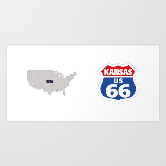 Route66 Kansas Art Print