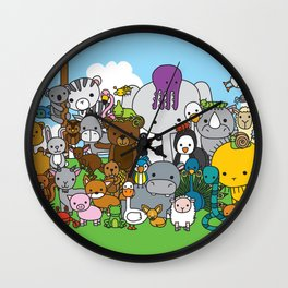 Zoe animals Wall Clock