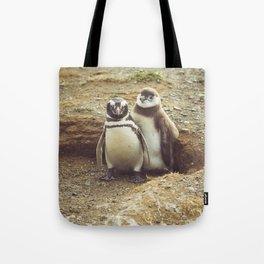 Penguin with chick Tote Bag