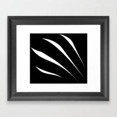 Negative Claw Framed Art Print