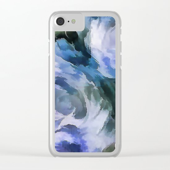 Blue rose. Clear iPhone Case
