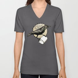 Crows Love CAW-FEE Unisex V-Neck