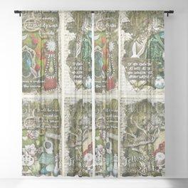 Alice of Wonderland Series 2 Sheer Curtain