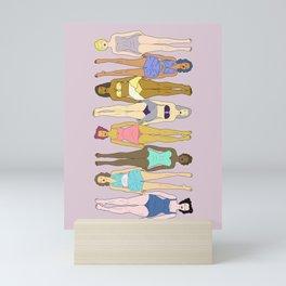 Sunbathers - Retro Female Swimmers Mini Art Print